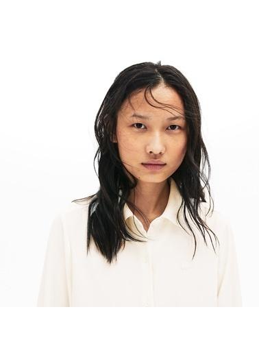 Lacoste Kadın Relax Fit Gömlek CF8474.70V Beyaz